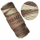 Cotton-, hemp- and linen cord
