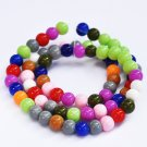 6mm round blass beads, mixed colors