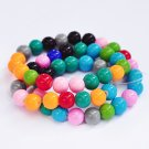 8mm round blass beads, mixed colors