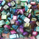Bead mix, mother-of-pearl shell, multicolored, 7-10mm nuggets, 50g