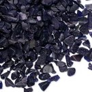 Embellishment, blue goldstone, undrilled mini-chip. Sold per pkg of 25 grams.