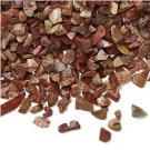 Undrilled mini chips, natural red jasper