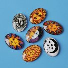 18x25mm oval image cabochons, glass, suns