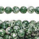 Tree agate / moss agate, 8mm round natural stone beads