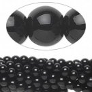 Black obsidian, natural, 8mm round beads, approx. 23-24pcs