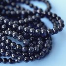 4mm round beads, blue goldstone
