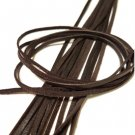 Cord, reindeerleather, 2x0.5mm, black, 80cm