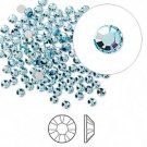 Swarovski flat back strass, 2.5-2.7mm, aquamarine, 20st