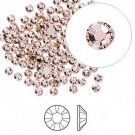 Swarovski flat back strass, 2.5-2.7mm, vintage rose, 20st
