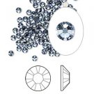 Swarovski flat back strass, 2.5-2.7mm, denim blue, 20st