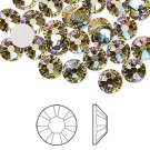 Swarovski flatback strass, 7-7.3mm, crystal luminous green, 2st