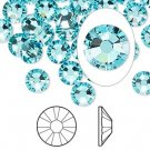 Swarovski flatback strass, 7-7.3mm, light turquoise, 2st