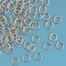 Jumprings, 6mm, 1mm thick, steel-coloured, 5g - approx. 50pcs