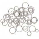 Stainless steel jumprings, mix