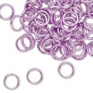 Aluminum jumprings, 8mm, light purple