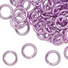 Aluminum jumprings, 10mm, light purple