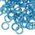 Aluminum jumprings, 10mm, turquoise blue
