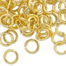 Aluminum jumprings, 10mm, gold-coloured