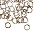 Aluminum jumprings, 8mm, 16 GA - 1.2mm thick, antique-coloured, 100pcs