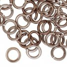 Aluminum jumprings, 10mm, 14 GA - 1.65mm thick, antique bronze, 100 pcs