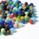 Bead, millefiori glass, multicolored, 6mm round. Sold per 16-inch strand - aprox 65pcs