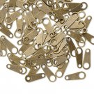 Chain tab, 10x4mm, bronze-colored, 20pcs