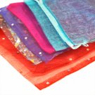 Organza bags, mix, 10x12cm, 10-pack