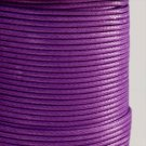 Waxed synthetic cord, dark purple
