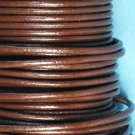 Round leather cord, 2mm, brown, 1m