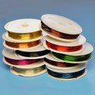 Coloured copper wire, 0.8mm thick, 10 mixed rolls