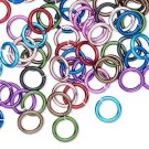 Aluminum jumprings, 8mm, 16 GA - 1mm thick, mixed colours, 100pcs
