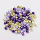 Bead mix - Lavender garden, Mix Pearlized Glass Beads, 6mm, 50g - about 190-200pcs