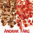 Czech Fire Polished faceted beads, 4mm round, Crystal - Garnet, 100pcs