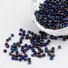 seed beads,navy,mix,3mm