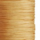Imitation silk cord, 1mm, golden brown, 5m