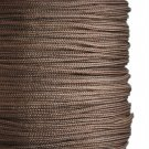 Imitation silk cord, 1mm, dark brown, 5m