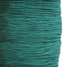 Imitation silk cord, 1mm, dark green, 5m