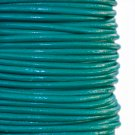 Genuine leather cord, 2mm, teal, priced per 1m