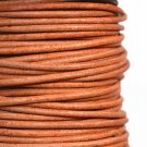 Genuine leather cord, 2mm, matte melange brown, priced per 1m