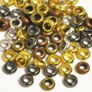 Mixed metal beads, 6x7mm bicones