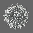 Focal, antiqued silver-plated brass, 34mm filigree flower. Sold per pkg of 1.