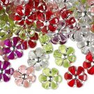 Bead mix, acrylic, mixed color, 10x10mm flower. Sold per pkg of 20