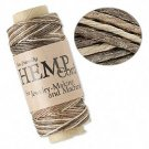 Cord, natural hemp, brown and light brown, 0.5mm. Sold per 30meter spool