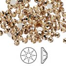 Swarovski flatback strass, 7-7.3mm, light Colorado topaz, 2st