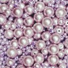 Round,glass,pearls,pink,lavender