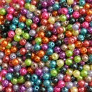 Acrylic pearl bead mix, 6mm round, 10g