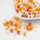 Bead mix - Caramel, Mix Pearlized Glass Beads, 6mm, 50g - about 190-200pcs