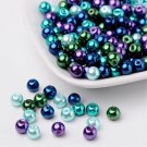 Bead mix - Ocean, Mix Pearlized Glass Beads, 6mm, 50g - about 190-200pcs