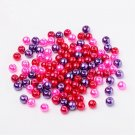 Silver- Valentine, Pearlized Glass Beads, 6mm, 50g - about 190-200pcs