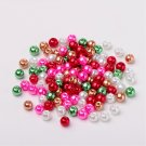 Bead mix - Patchwork, Mix Pearlized Glass Beads, 6mm, 50g - about 190-200pcs
